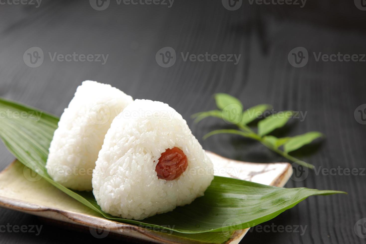 """Japanse rijstbal """"onigiri"""" foto"""