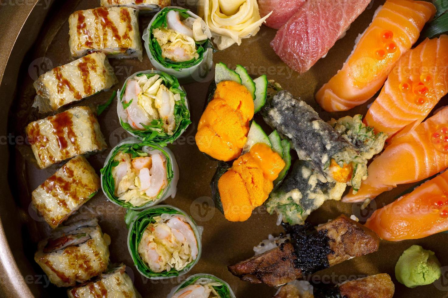verse sushi keuze combinatie assortiment selectie foto