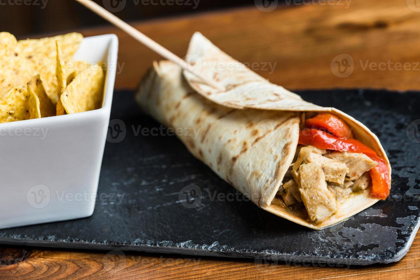 vlees burrito. foto
