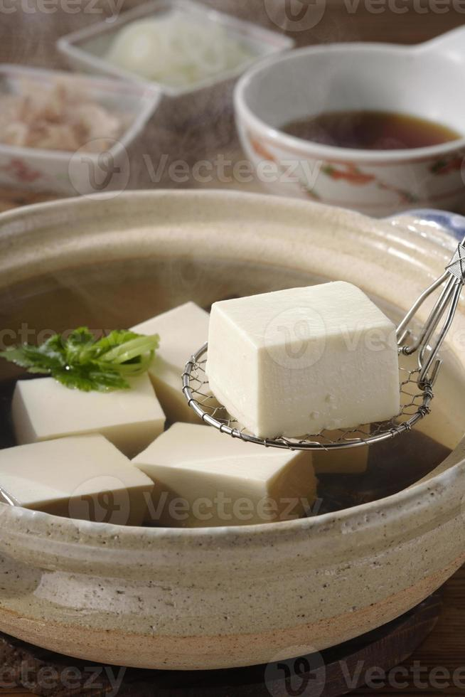 gekookte tofu foto