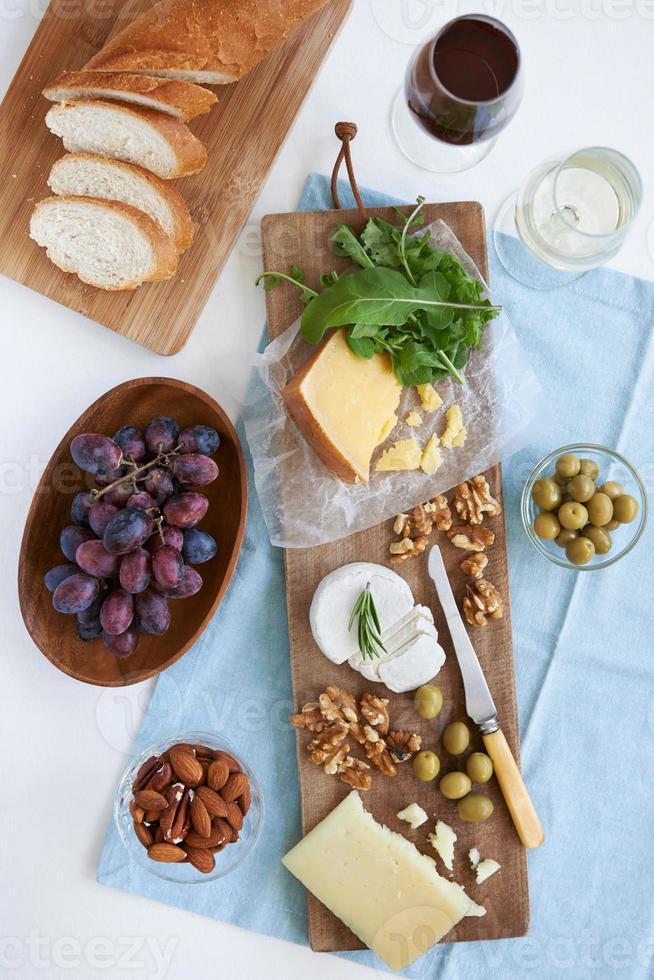selectie van kaas voor feest foto