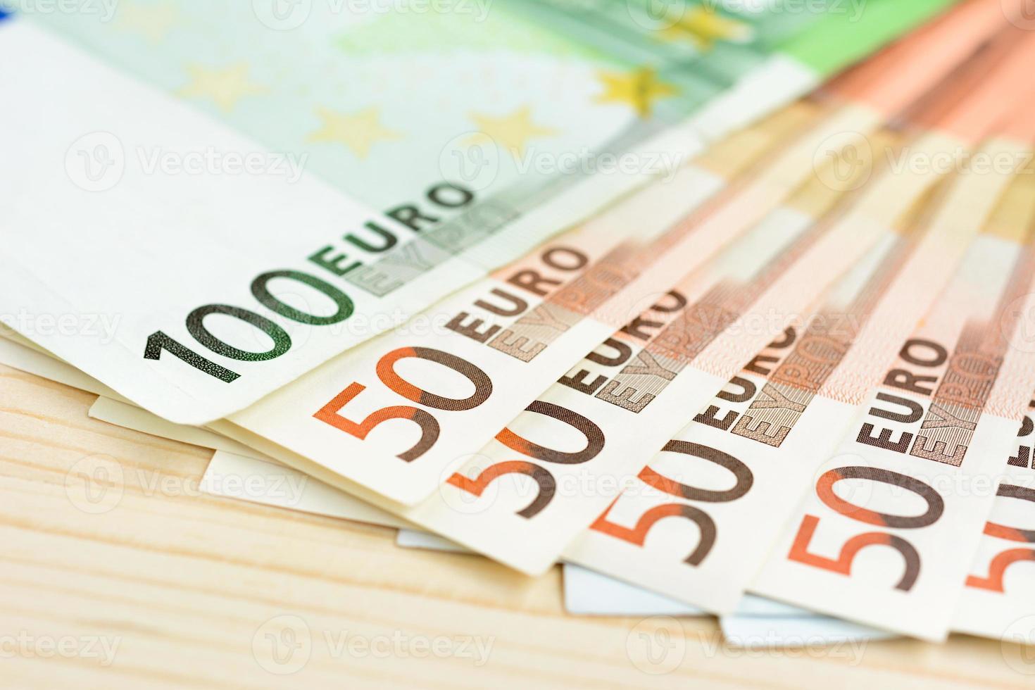 geld, euro valuta (eur) bankbiljetten foto
