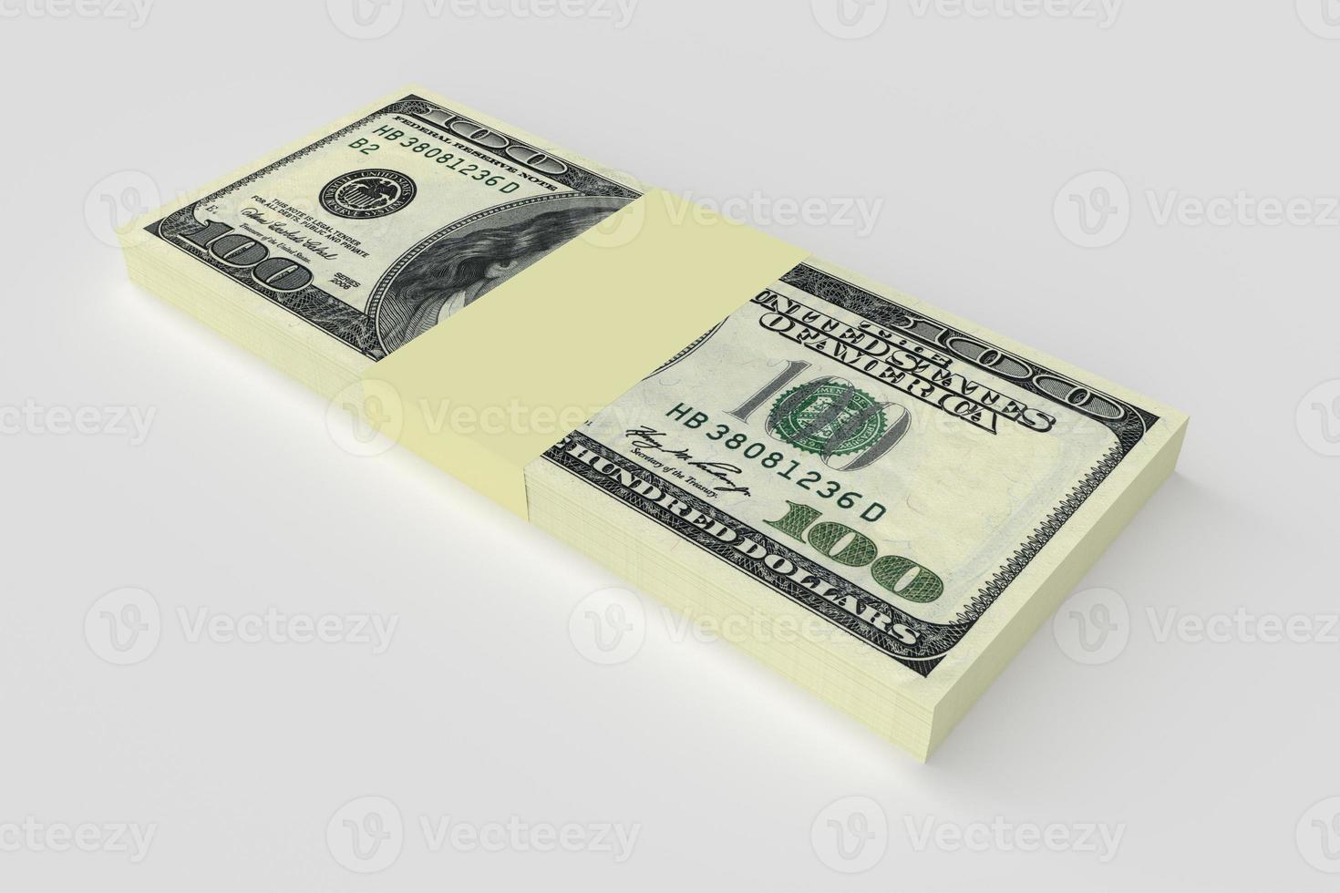 geldconcept - vele dollarsbankbiljetten foto