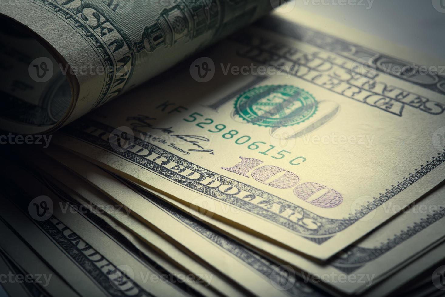geld Amerikaanse honderd-dollarbiljetten foto