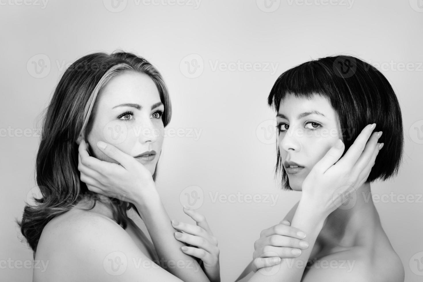 twee vrouw foto