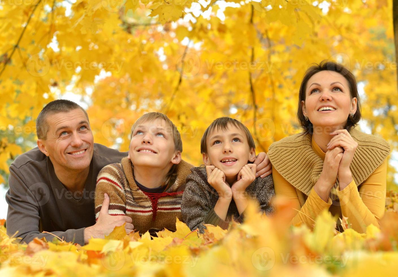 portret van gelukkige familie foto