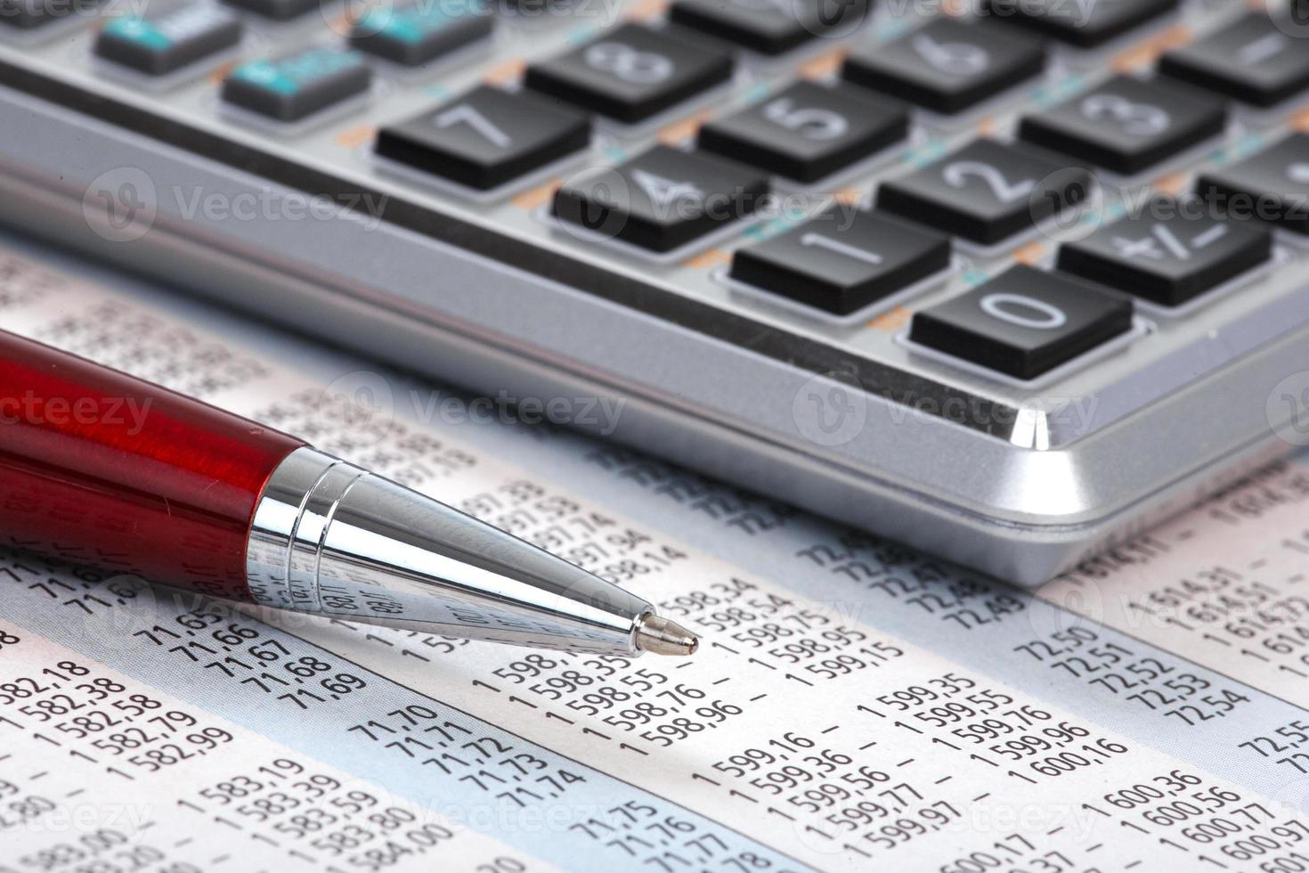 rekenmachine en pen foto