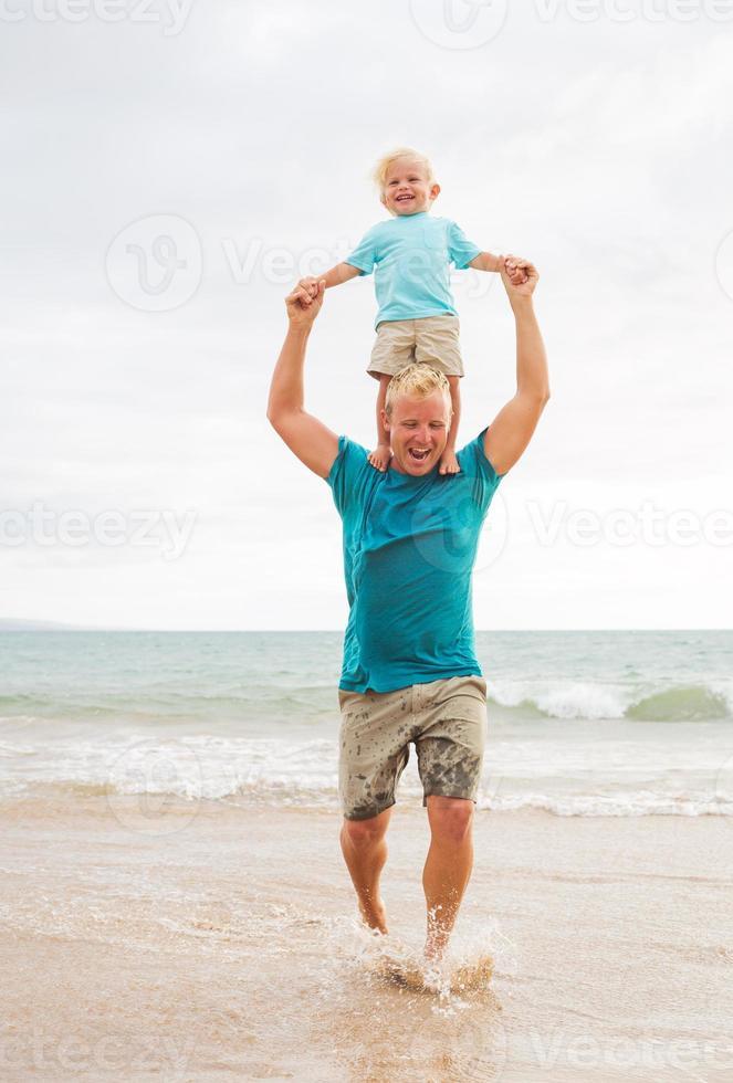 vader en zoon foto