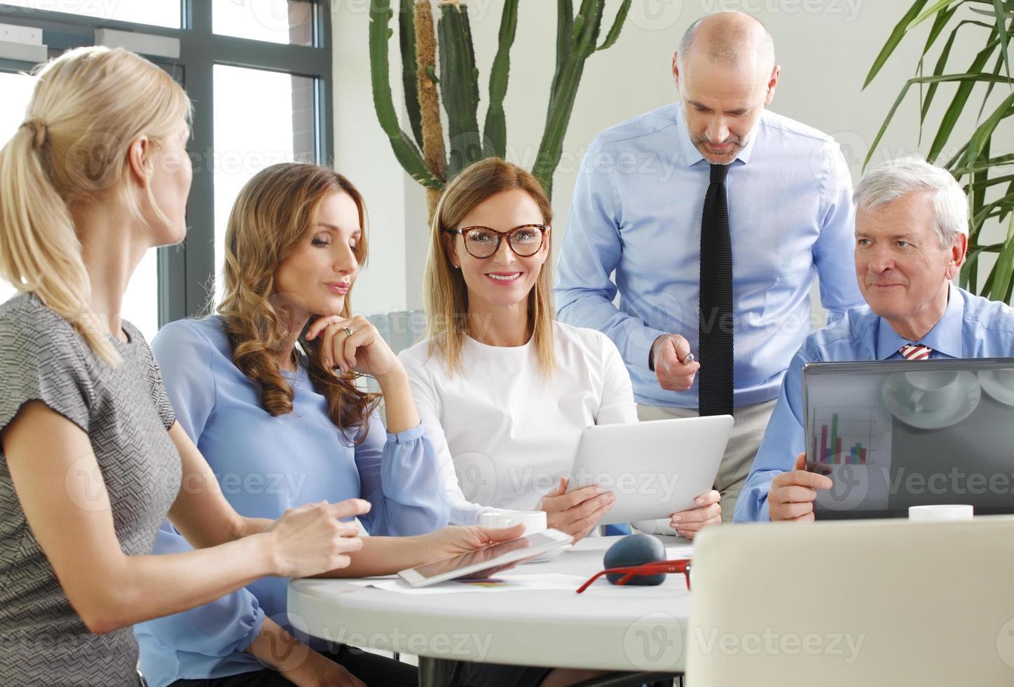 personeel vergadering foto