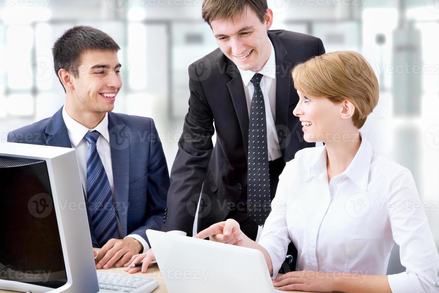 jonge mensen uit het bedrijfsleven foto