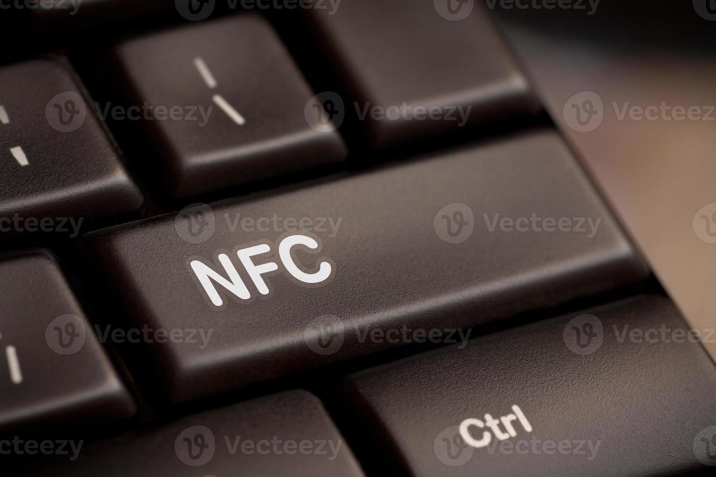 computertoetsenbord met nfc-technologie foto