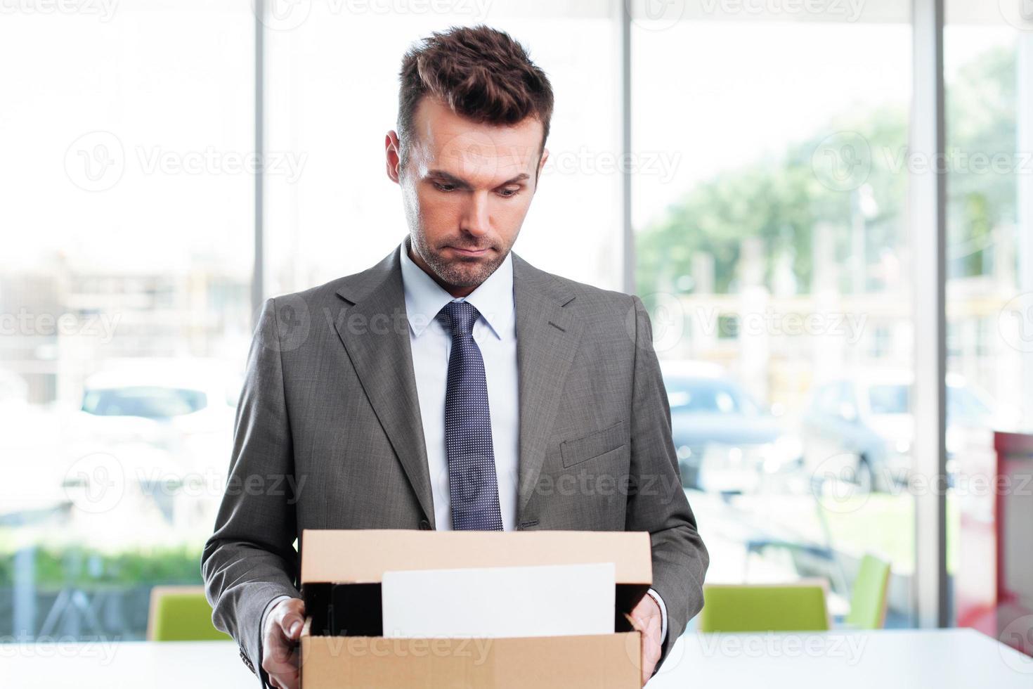 ontslagen zakenman foto