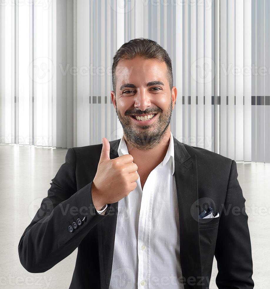 zakenman blij foto