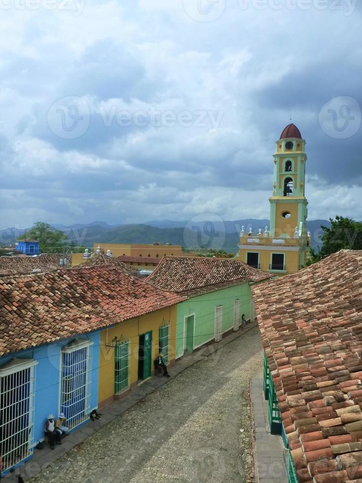 straatbeeld in Trinidad, Cuba foto