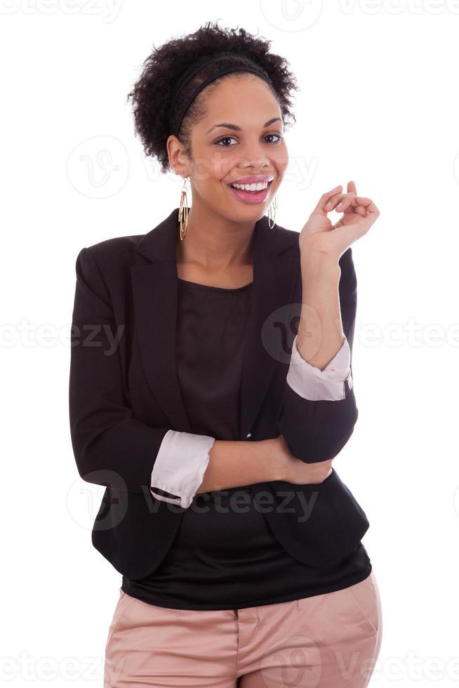 doordachte Afro-Amerikaanse zakenvrouw - zwarte mensen foto