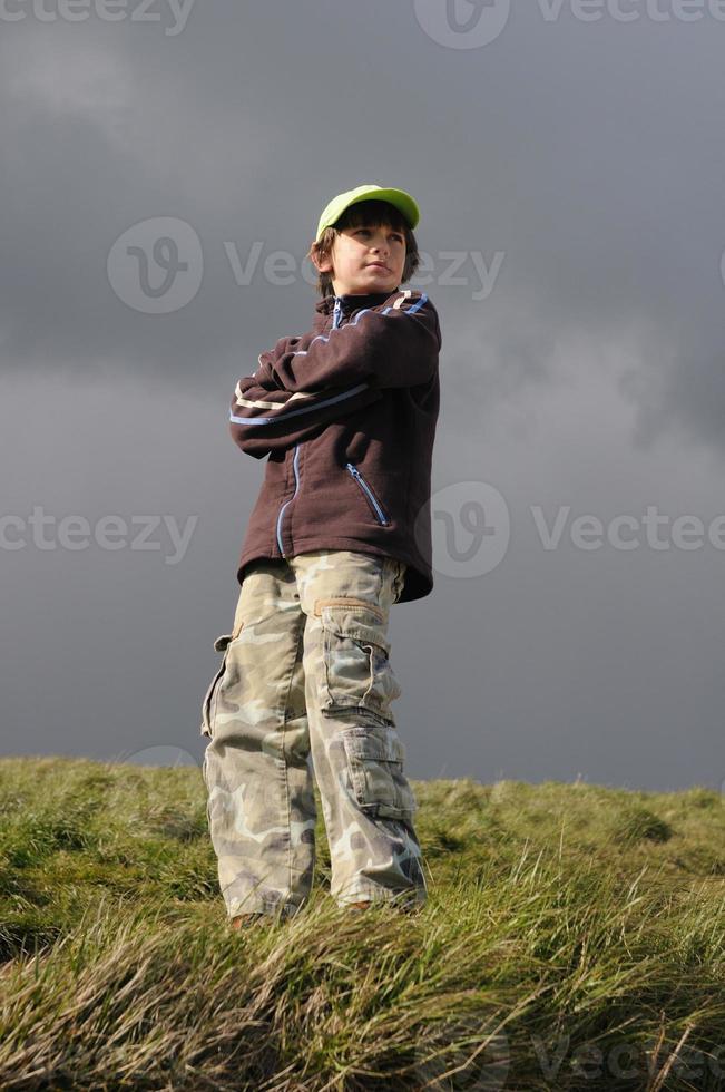 coolste jongen ter wereld foto
