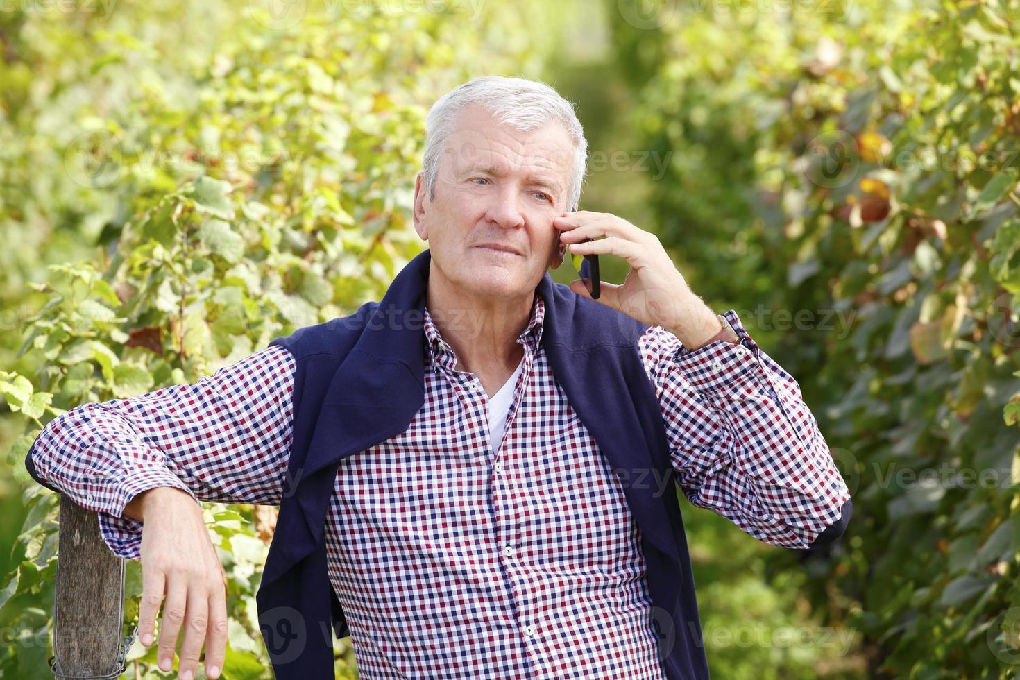 gepensioneerde wijnmaker foto