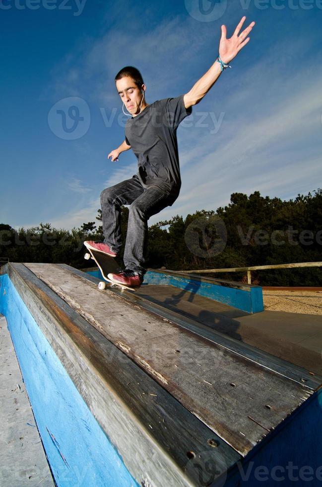 skateboarder op een sleur foto