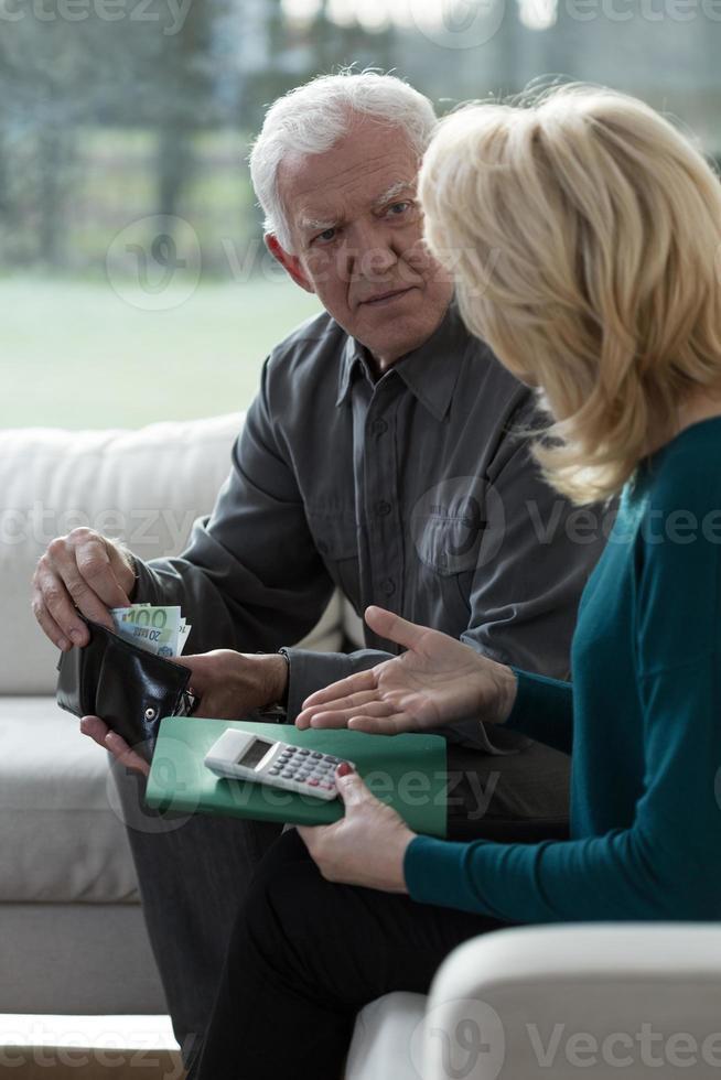 het overwinnen van financiële moeilijkheden foto