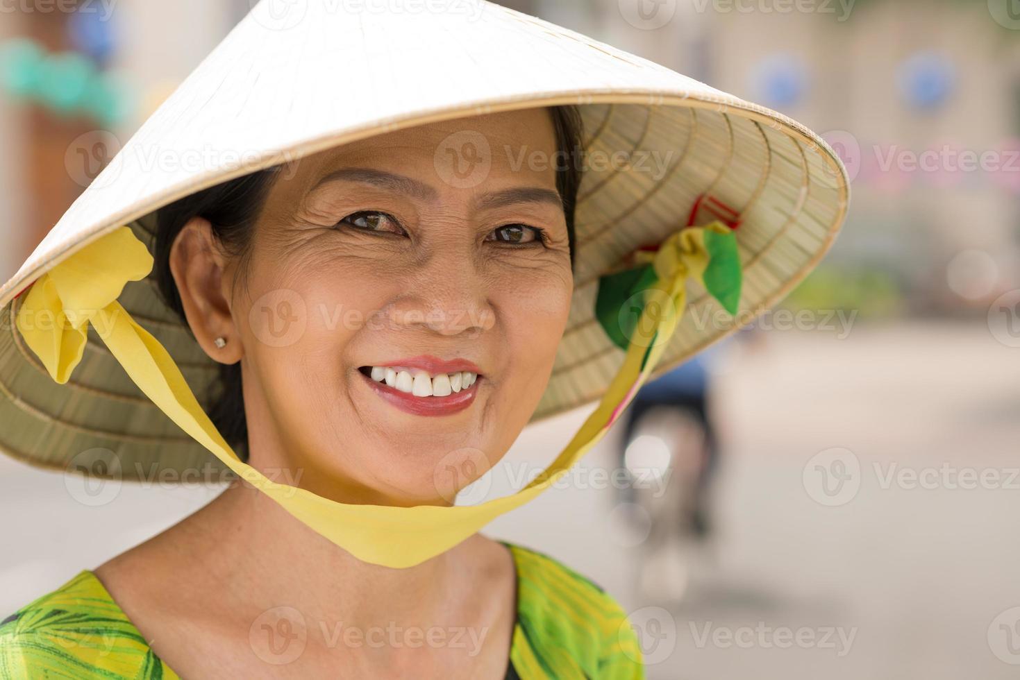 vrolijke Aziatische vrouw foto
