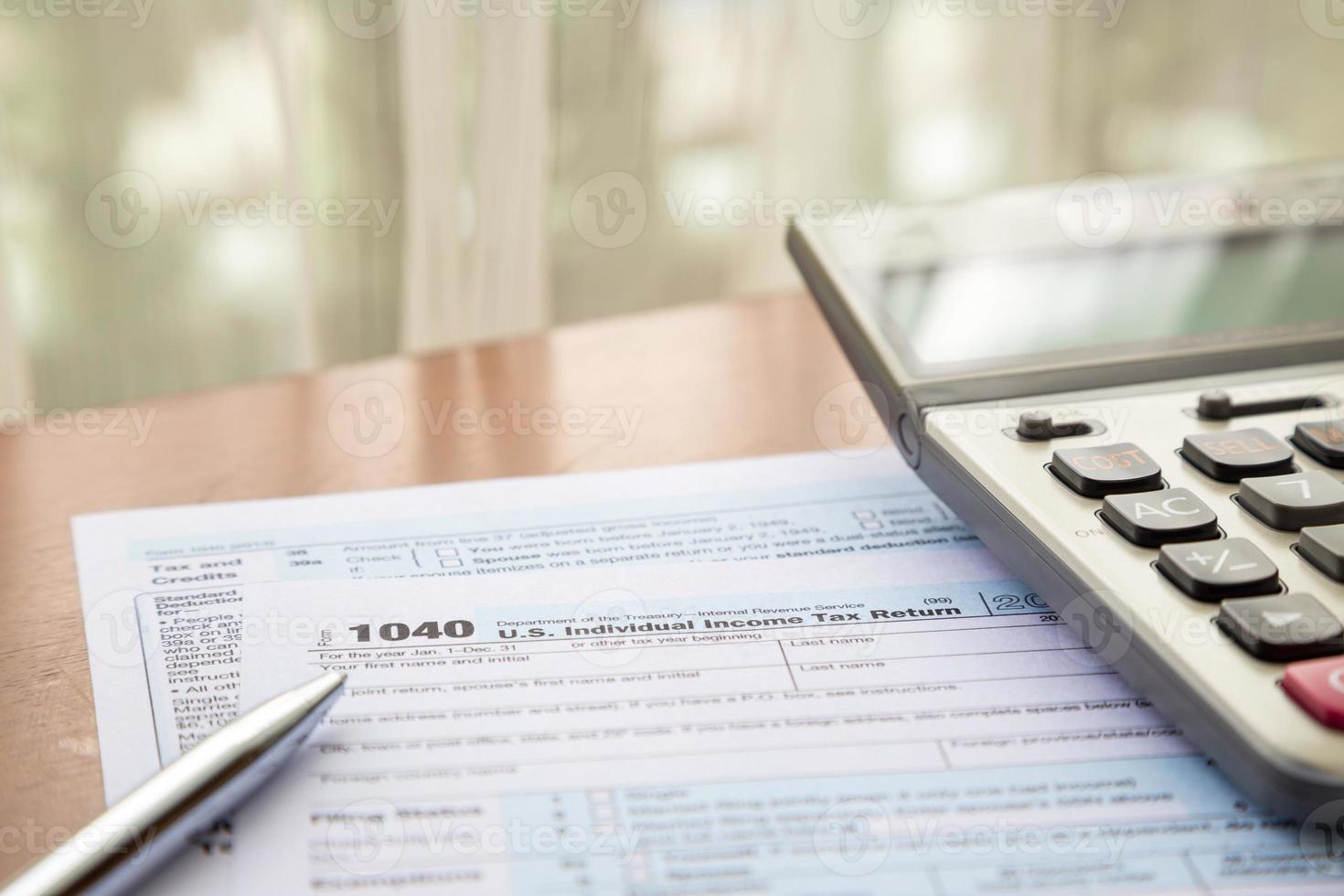 vormen 1040, ons individuele aangifte inkomstenbelasting foto