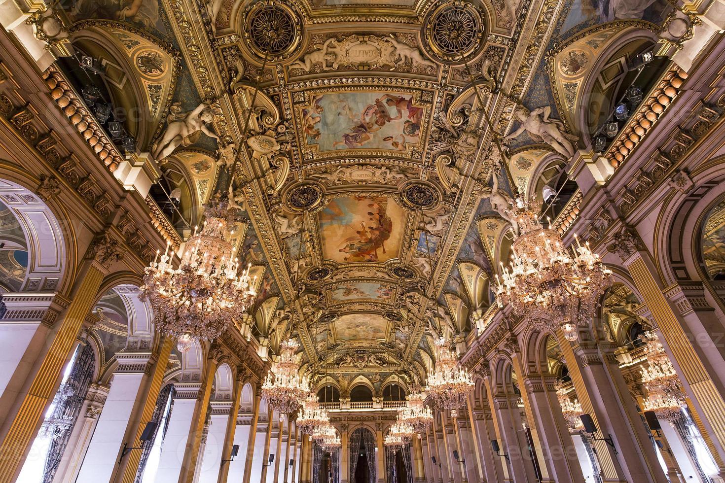 ontvangstruimten van het stadhuis, Parijs, Frankrijk foto