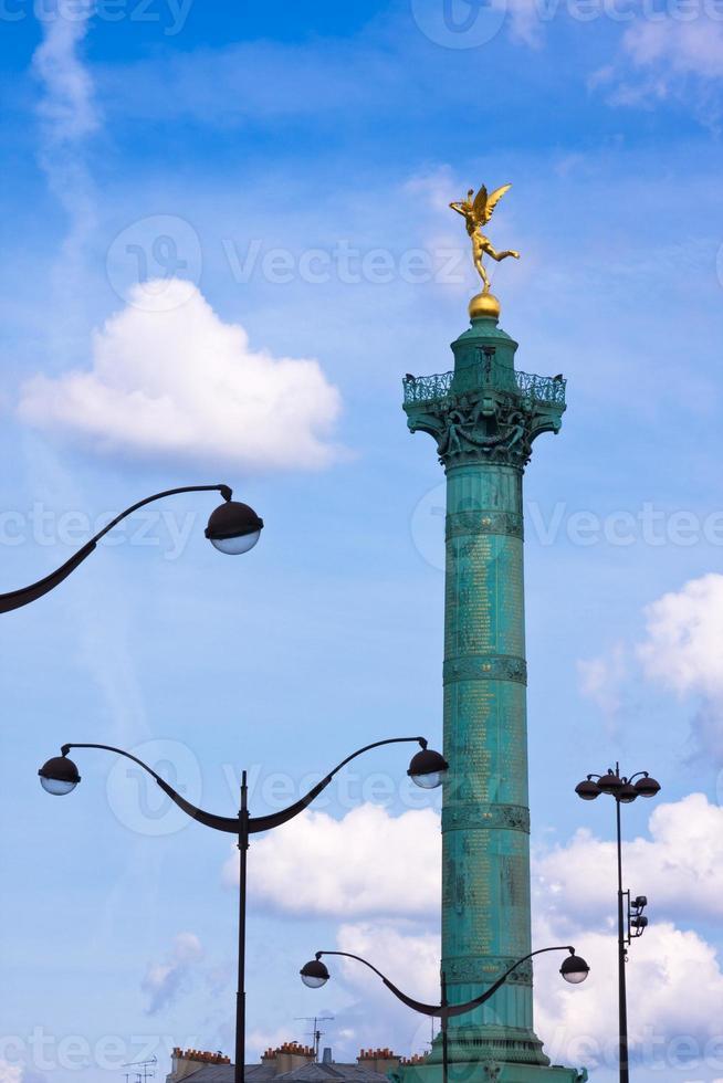 place de la bastille (parijs) foto