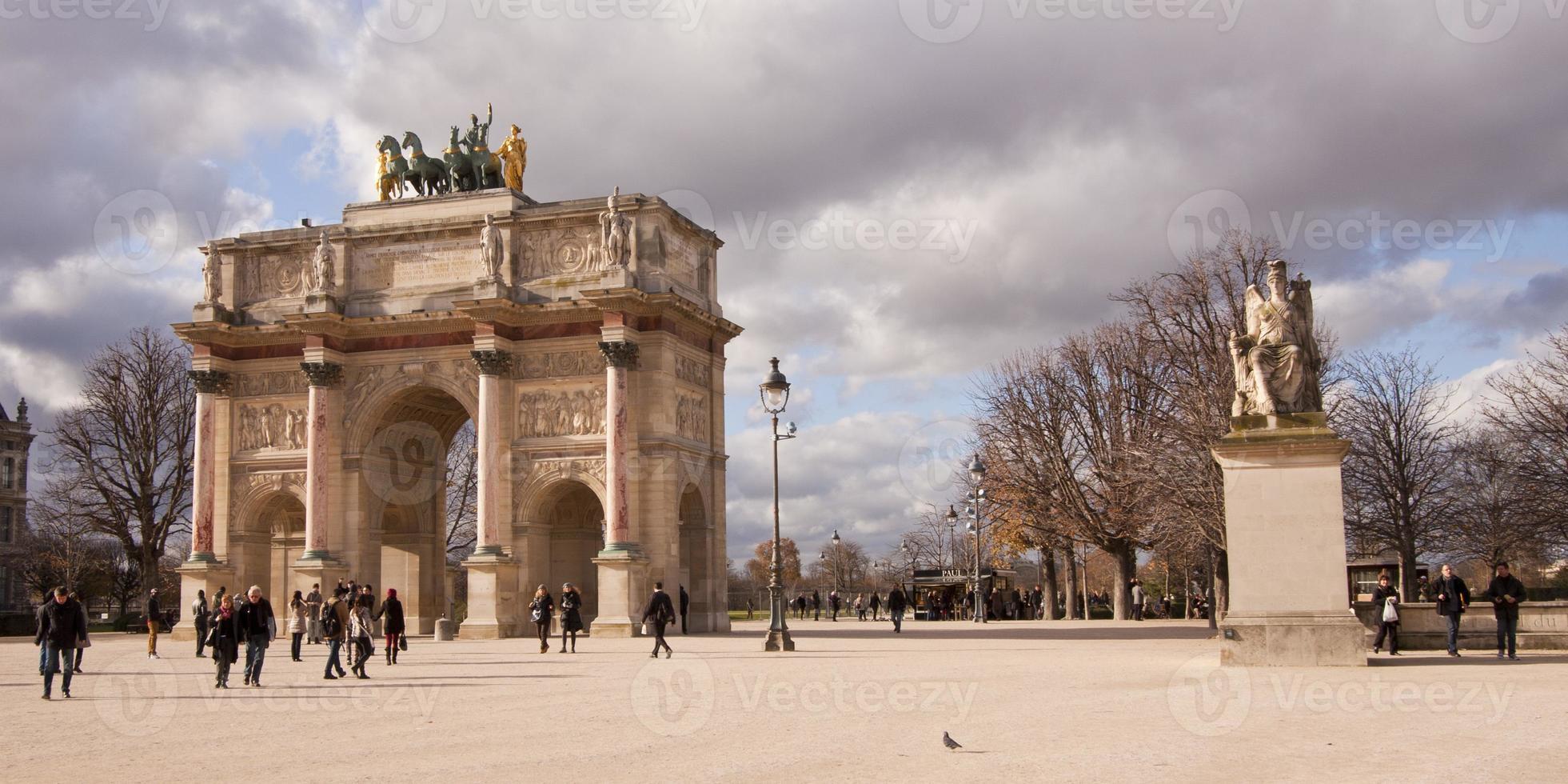 triomfboog, de arc de triomphe, parijs foto