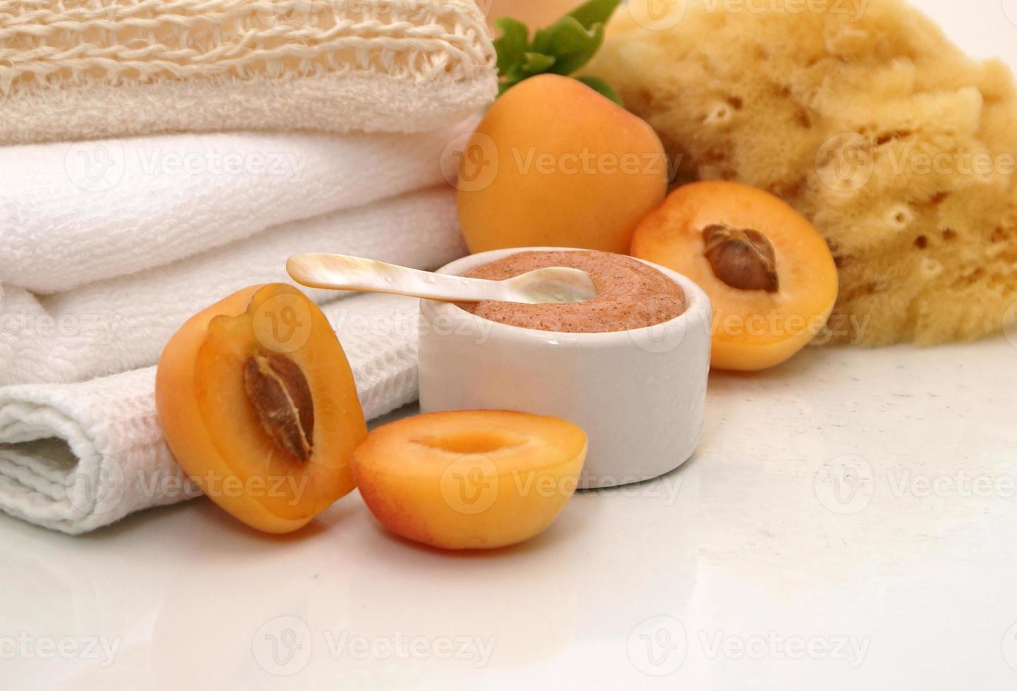 abrikoos spa-behandeling foto