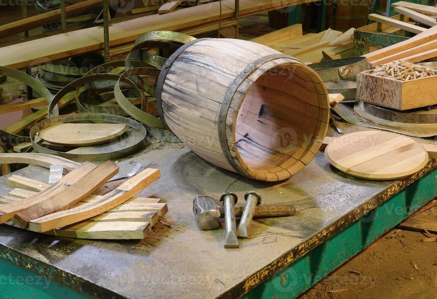 productie en productie van vaten foto