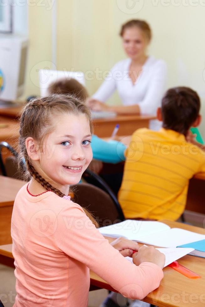 schattige leerling foto