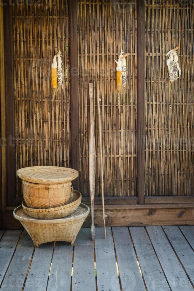 rieten cultuur van thailand foto
