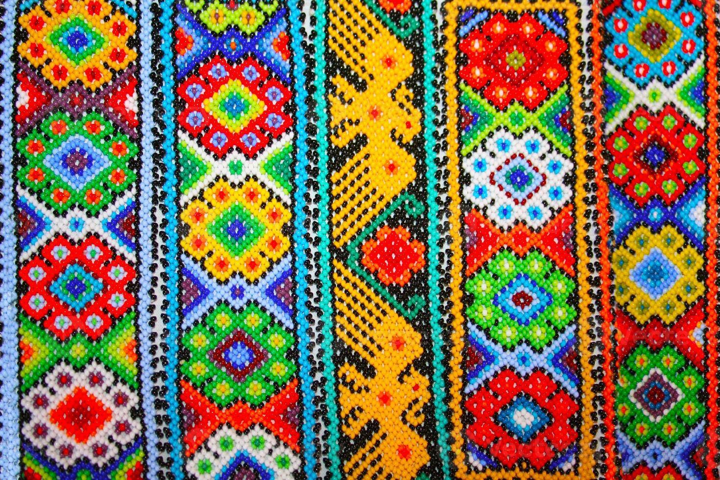Azteekse naadloze patronen in xochimilco, mexico foto