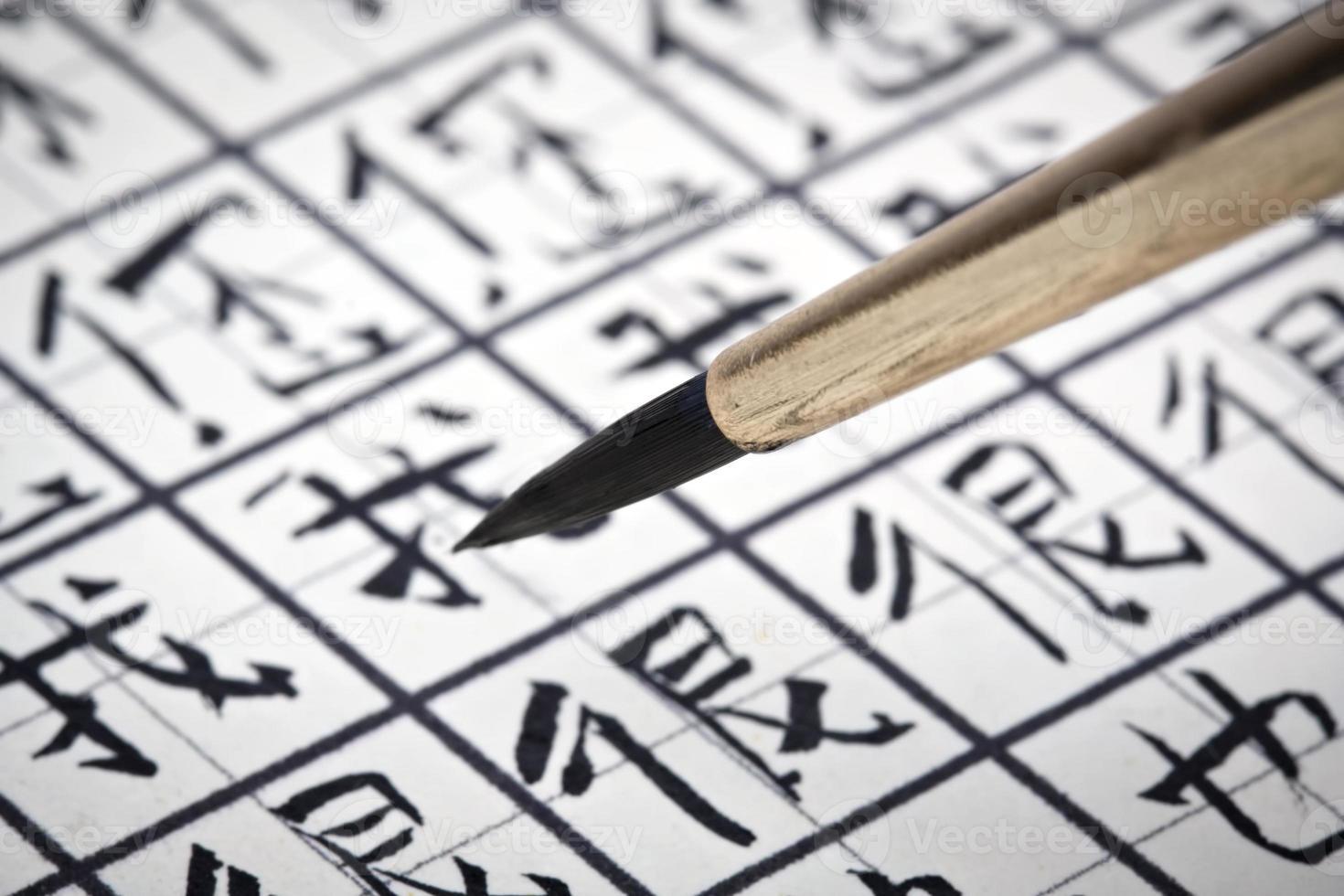 Chinese karakters leren schrijven. foto