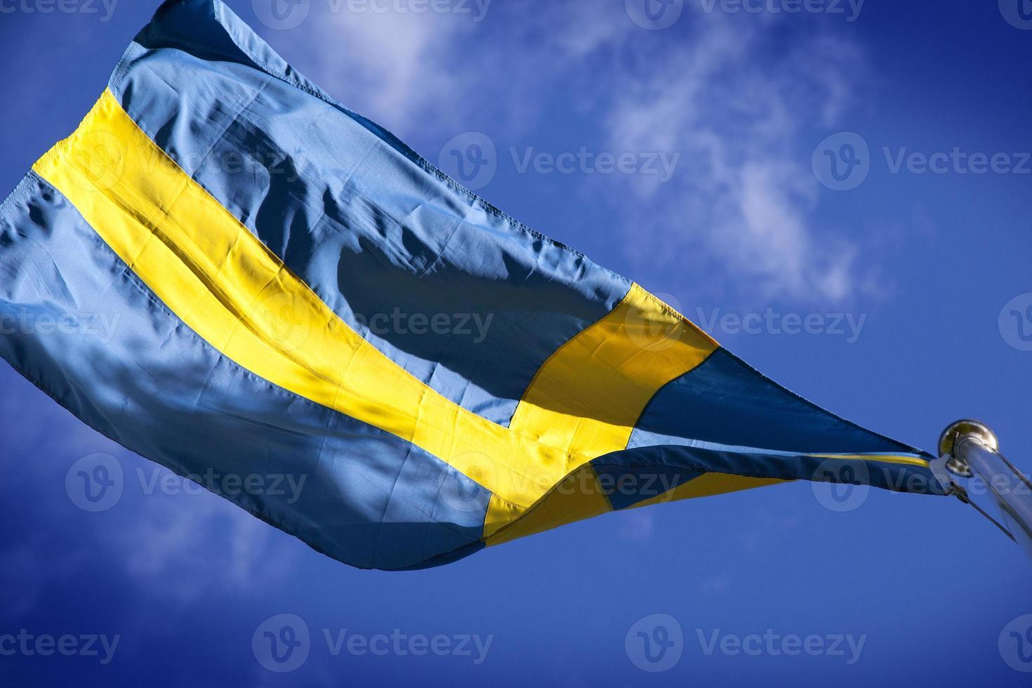 Zweedse vlag foto