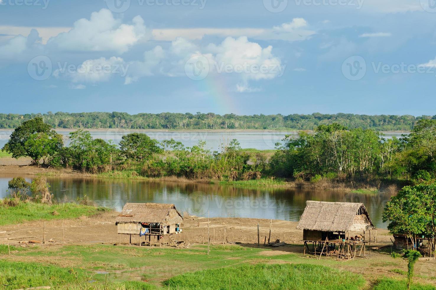 amazone indianenstammen in brazilië foto