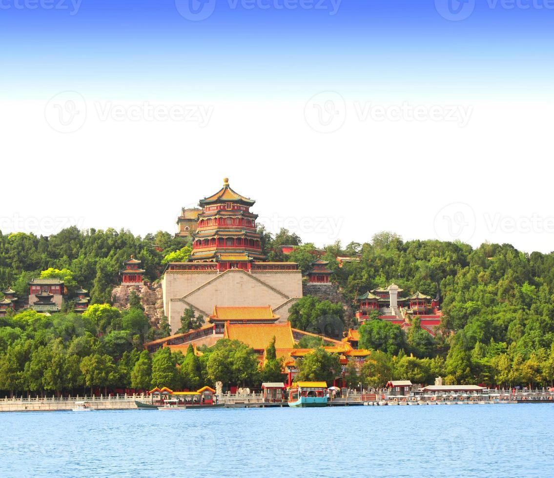 zomerpaleis in Peking, China foto