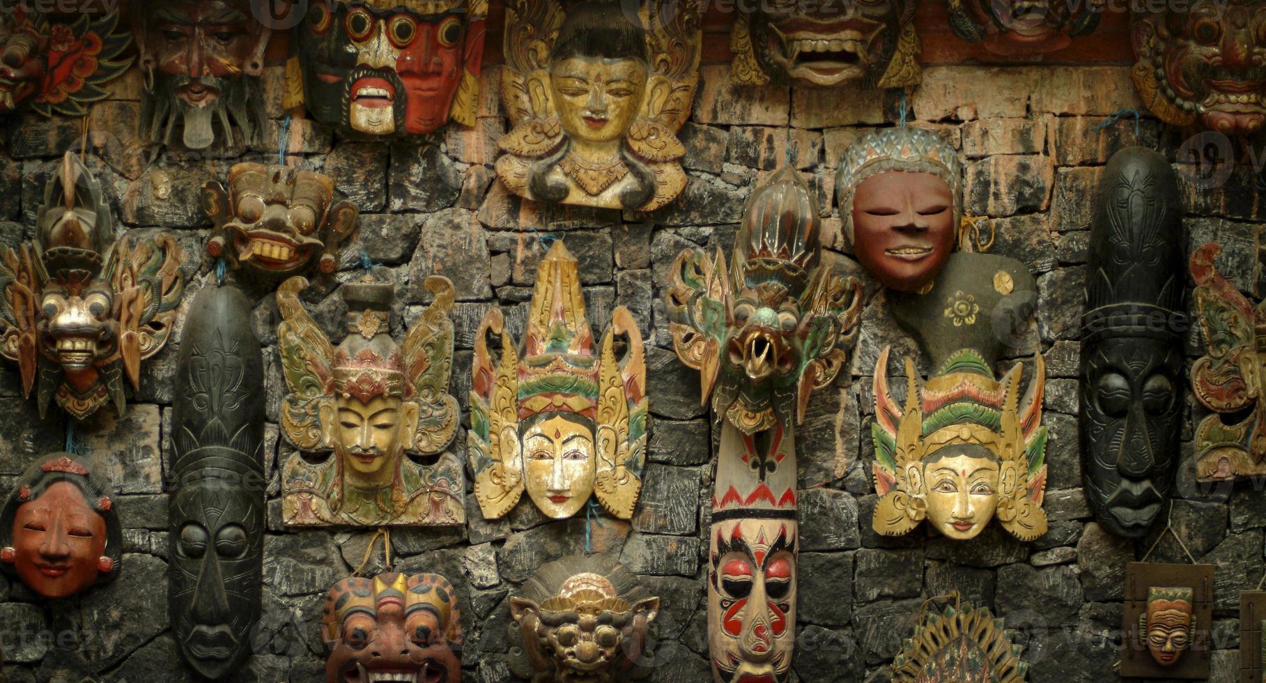 Balinese houten maskers foto