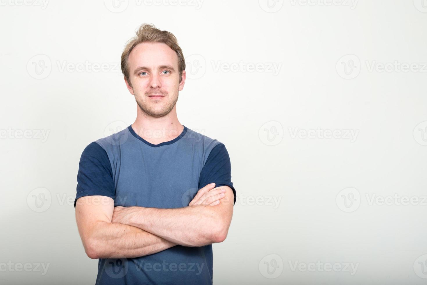 portret van blanke man foto