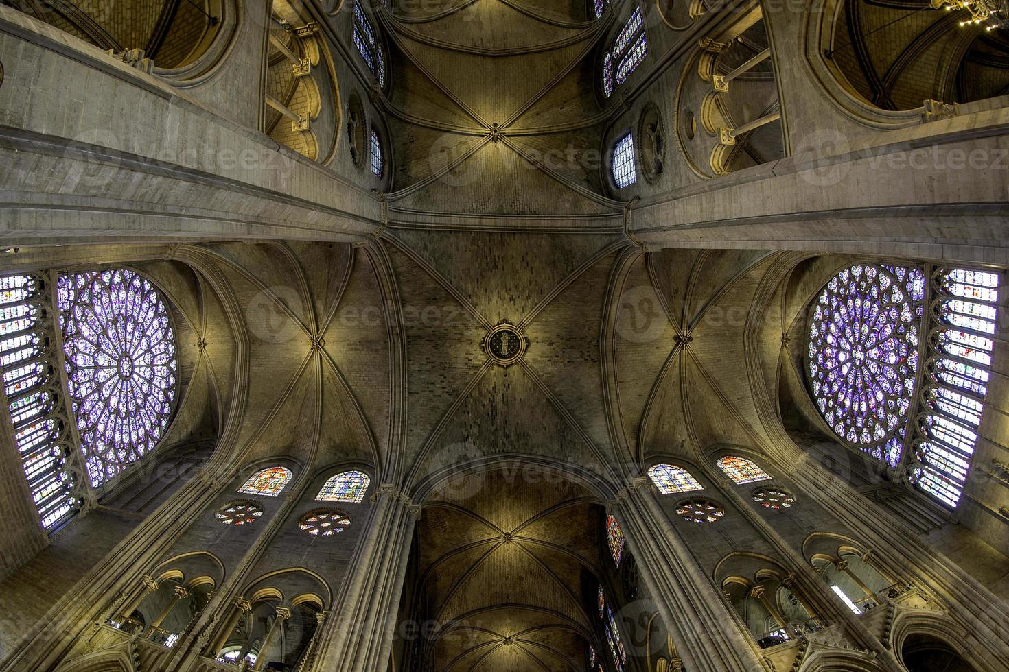 kathedraal plafond - Parijs, Frankrijk foto