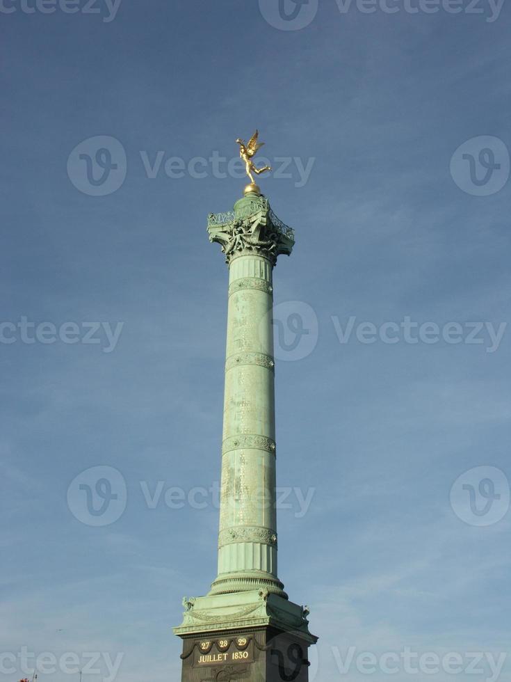 bastille kolom in Parijs foto