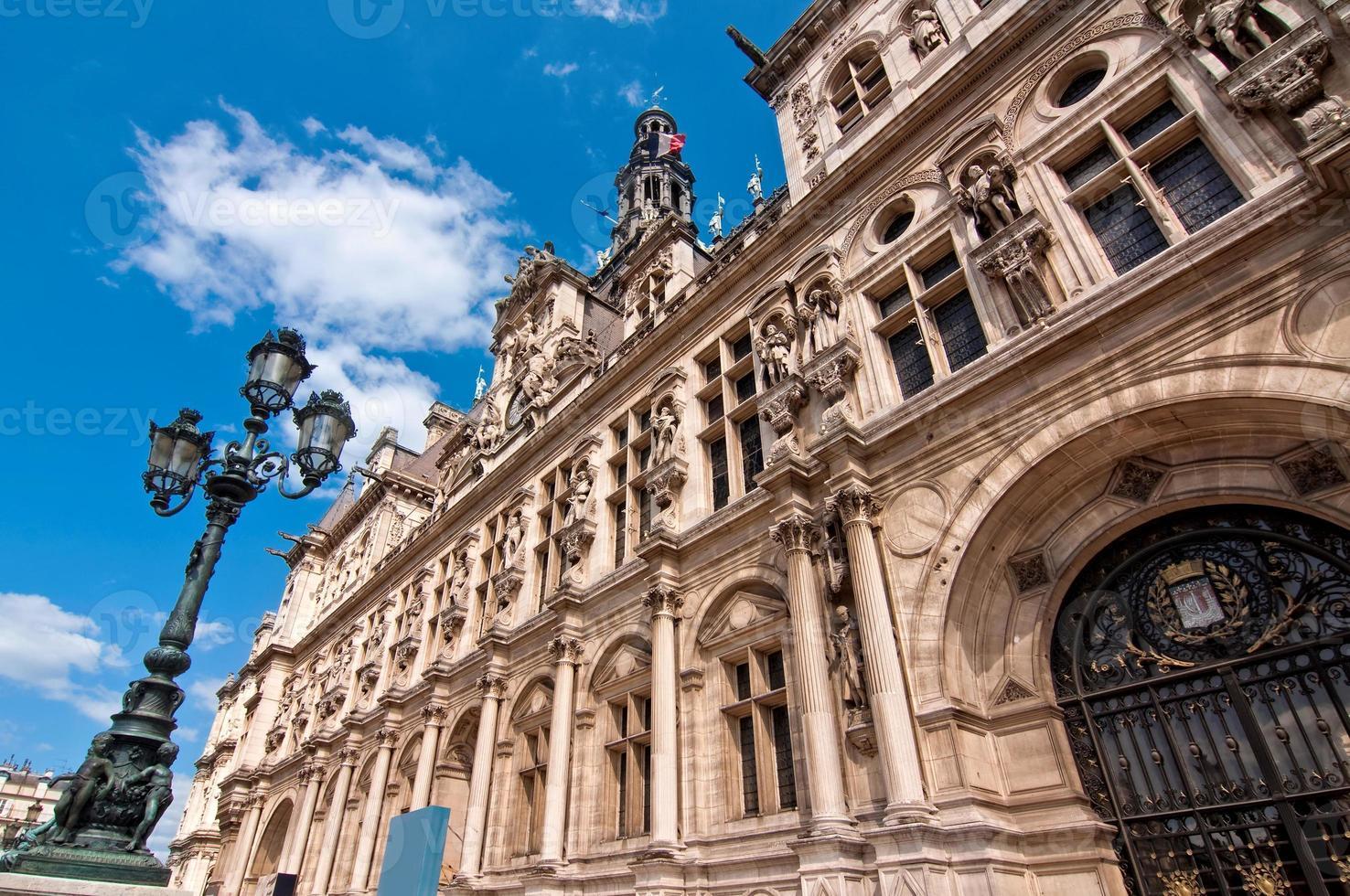 l'hotel de ville (stadhuis) van Parijs, Frankrijk foto