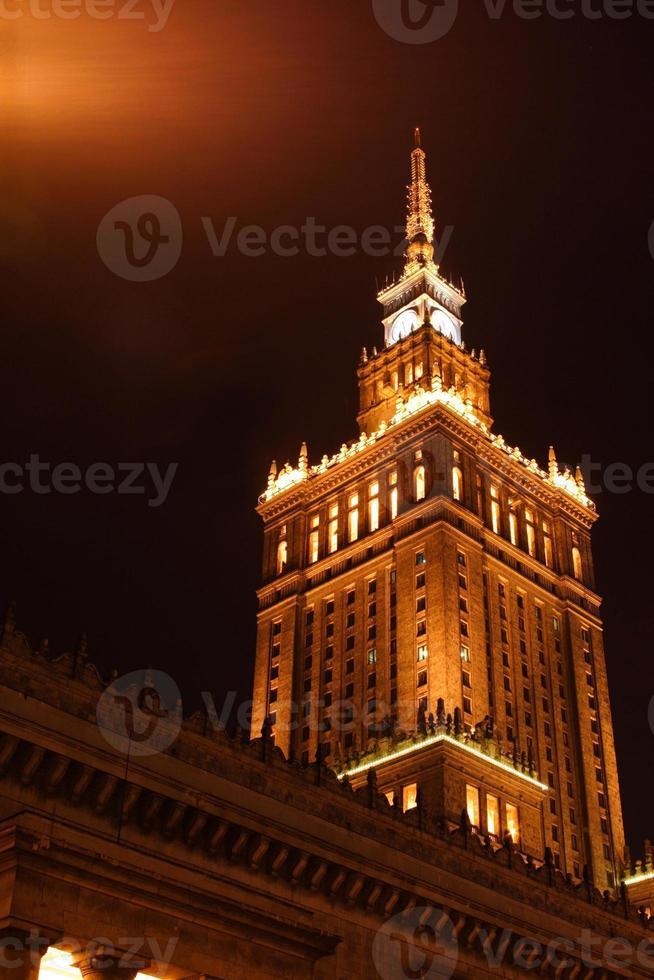 paleis van cultuur en wetenschap in Warschau foto