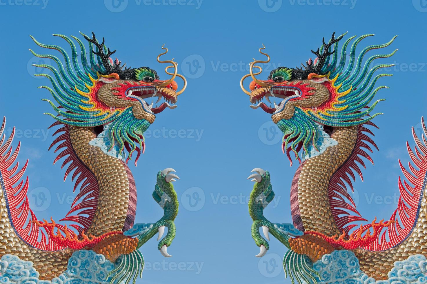 dubbele Chinese draak. foto