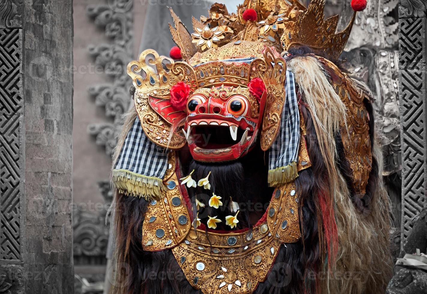 barong - karakter in de mythologie van Bali, Indonesië. foto