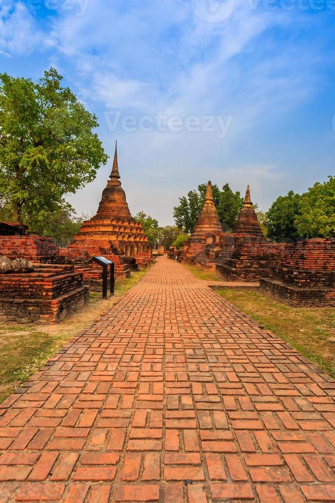 Sukhothai historisch park de oude stad van Thailand foto