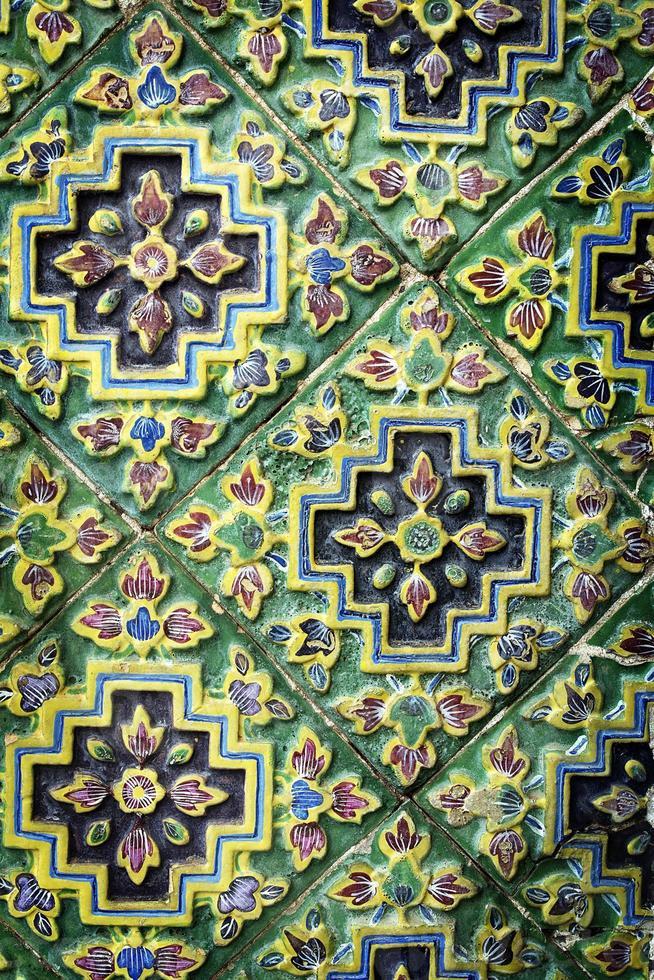 de textuur van de tempel van thailand foto