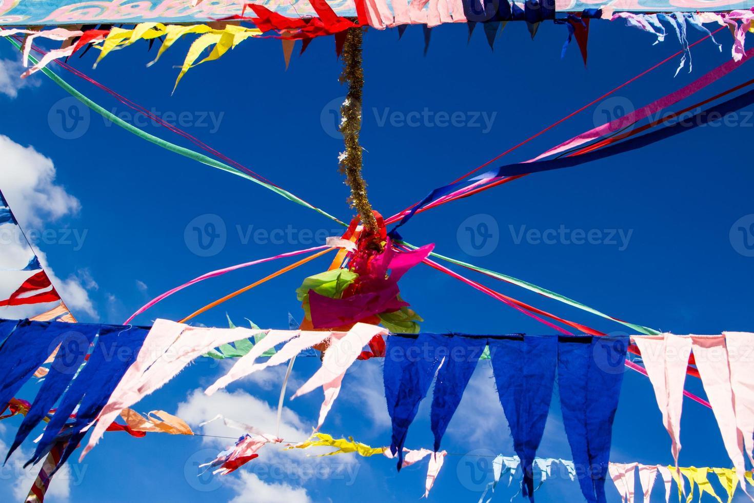 boeddhistische decoratievlaggen foto