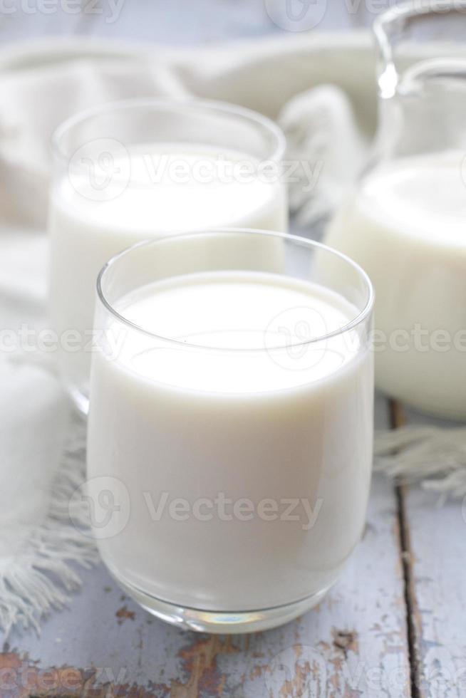 glazen melk foto