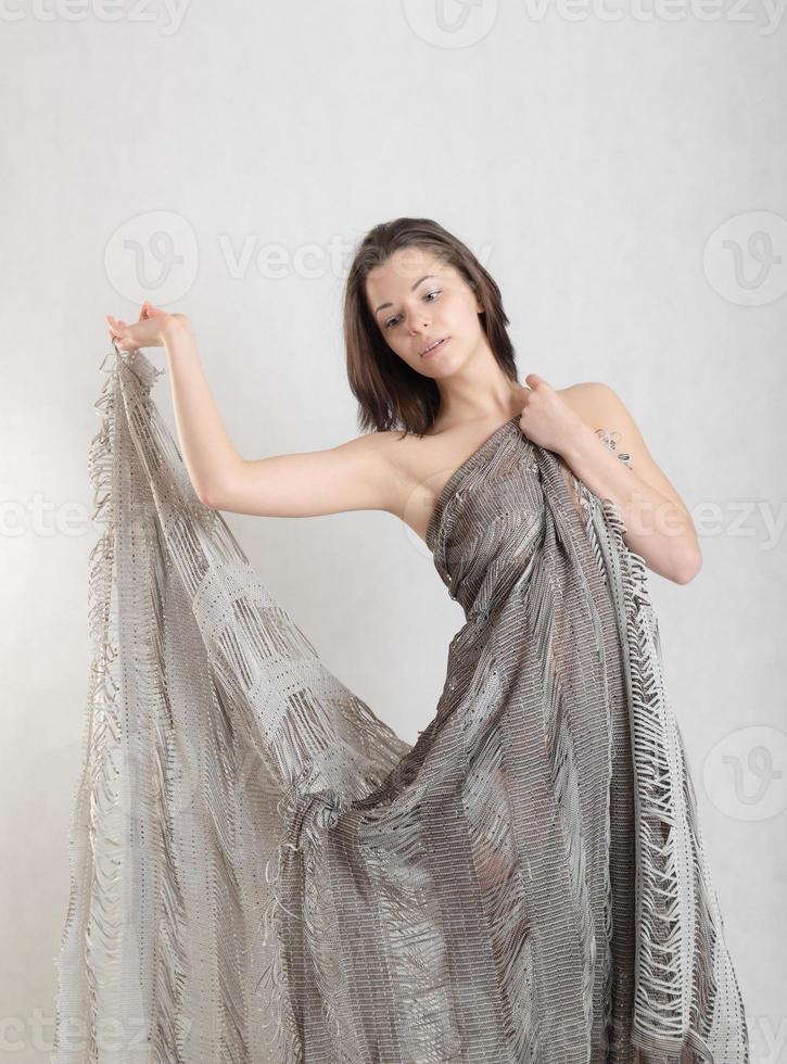 meisje met een doek foto